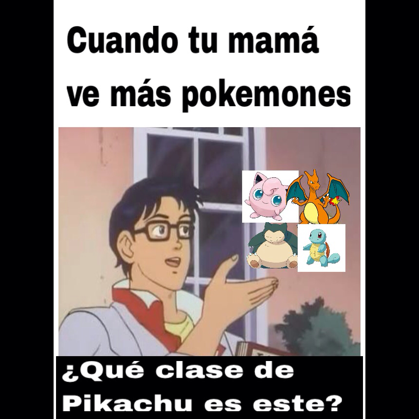 El título es Pikachu - meme