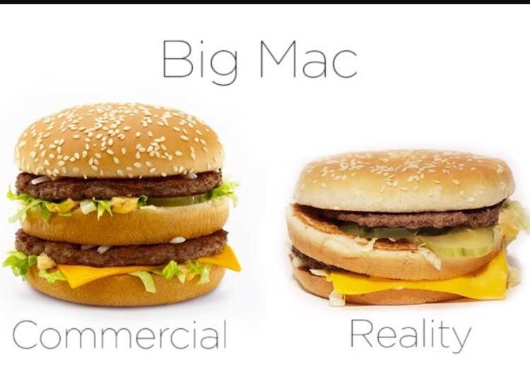 publicité et réalité .. - meme