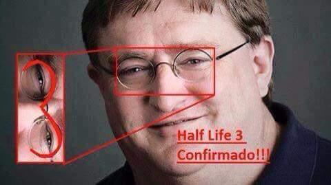 El titulo quiere el half life 3 - meme