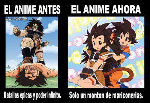 Evolución del anime - meme