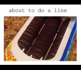 Doing a line. - meme