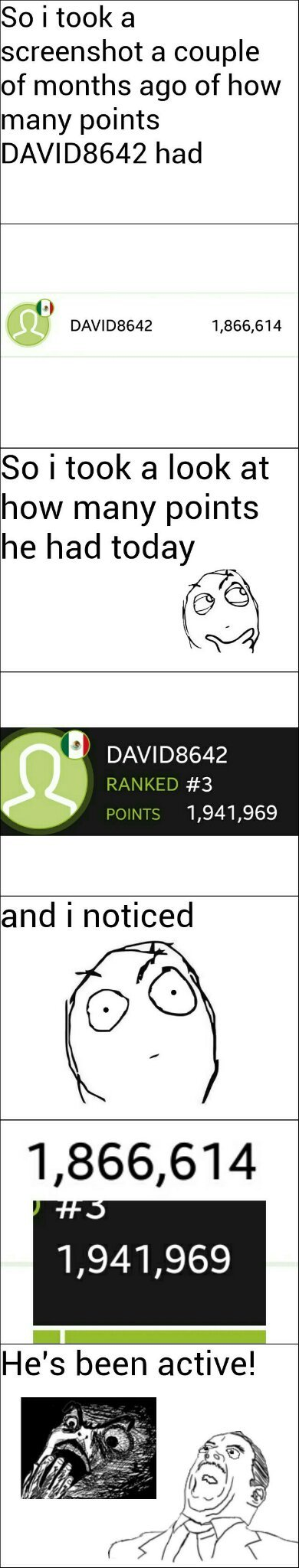 DAVID8642 was #1 a long time ago for those who don't know - meme