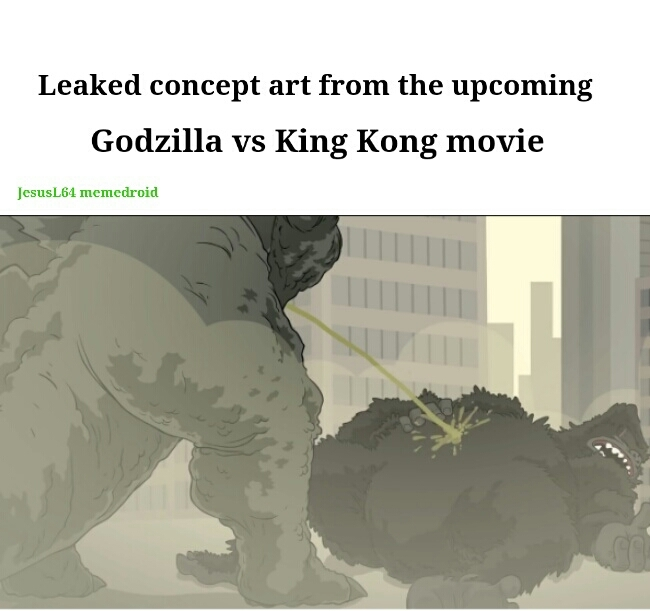 So hyped from this news! :D  Image from Walter White vs Godzilla - meme
