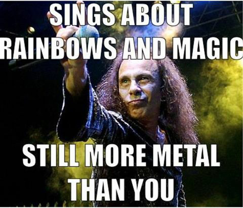one the greatest metal people ever, rip Ronnie James Dio - meme
