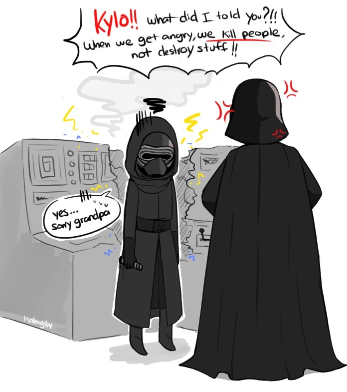 Darth Vader becomes grandad - meme