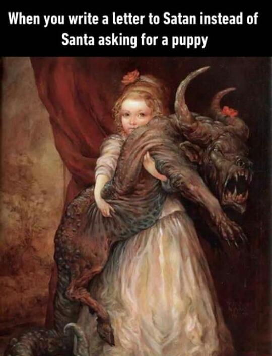 Dear Satan - meme