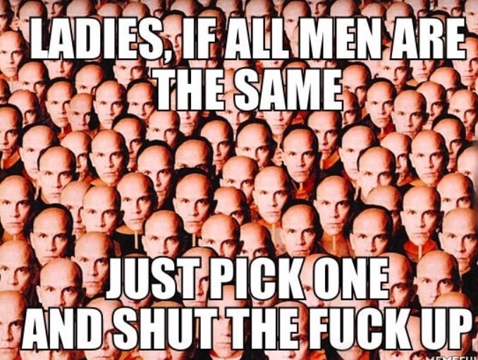 all men are the same - meme