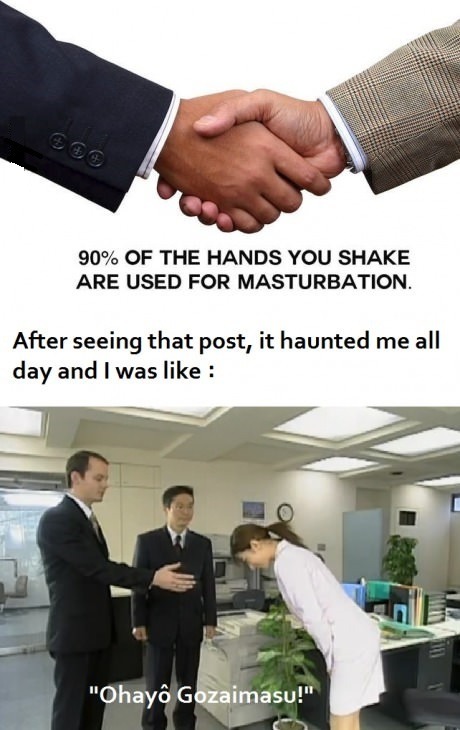 dont masturbate with your hands - meme