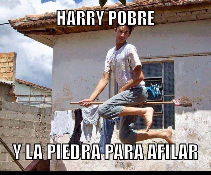 Harry pobre - meme