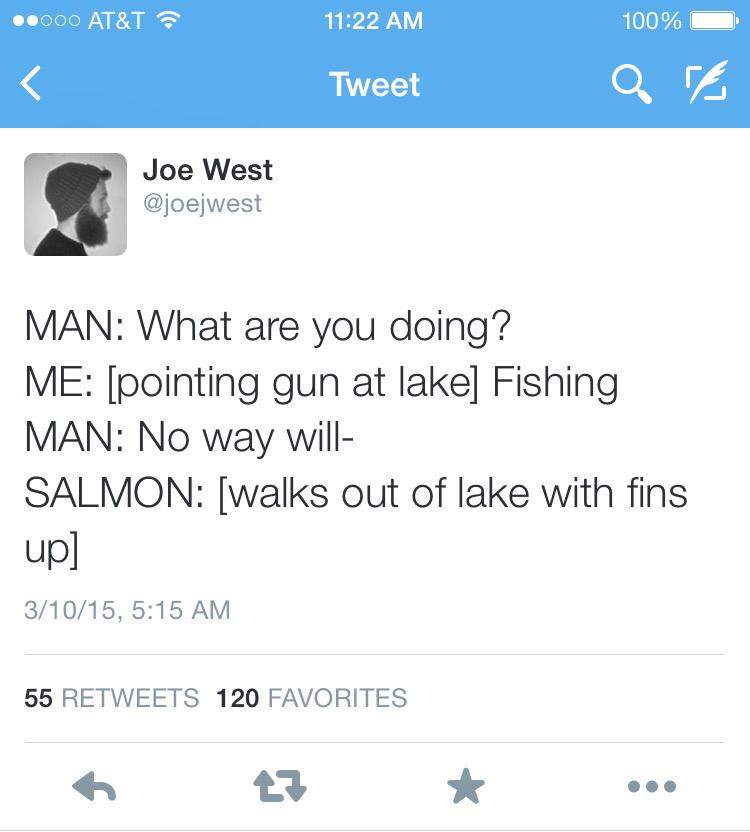 """Don't shoot""- salmon - meme"