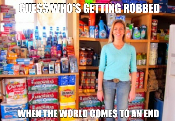 Extreme Couponers give me nightmares. - meme