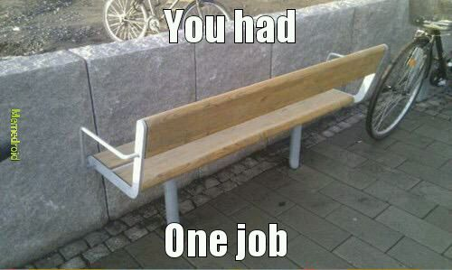 Bench is crying - meme