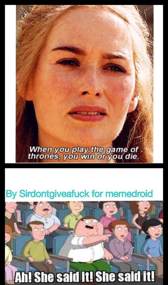 SHE SAID IT - meme