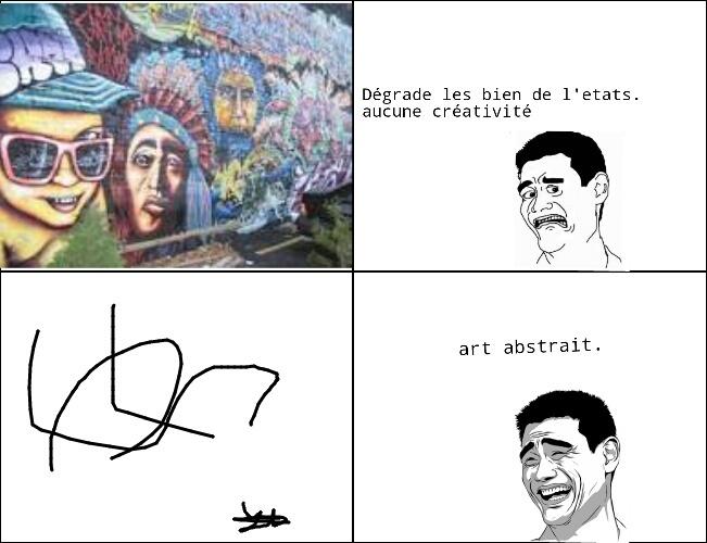 de l'art. g fait moi meme ce meme avec rage maker ( application IOS / Androi )
