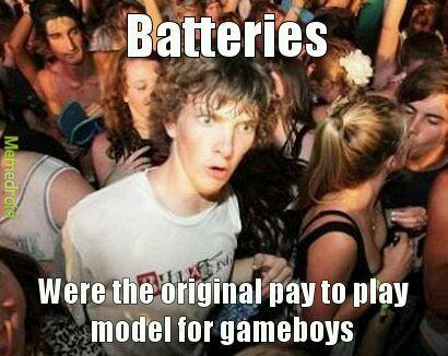 So many damn batteries... - meme