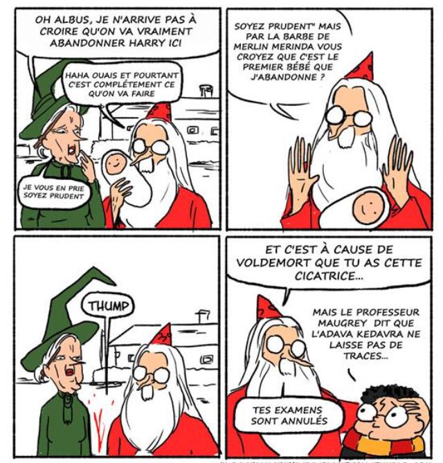 Le vrai visage de dumbledore - meme