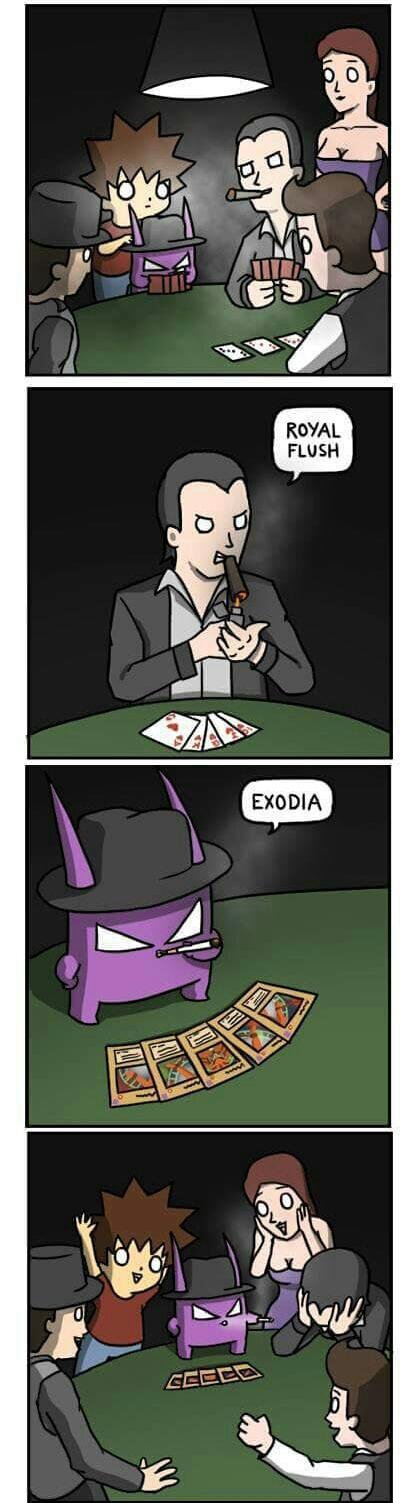 Exodia wins - meme