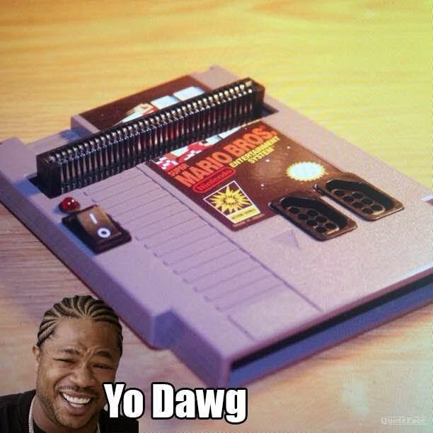 I heard you like NES, so we put an NES in an NES - meme