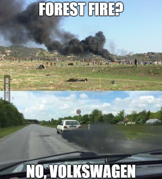 Wolswagen en force - meme