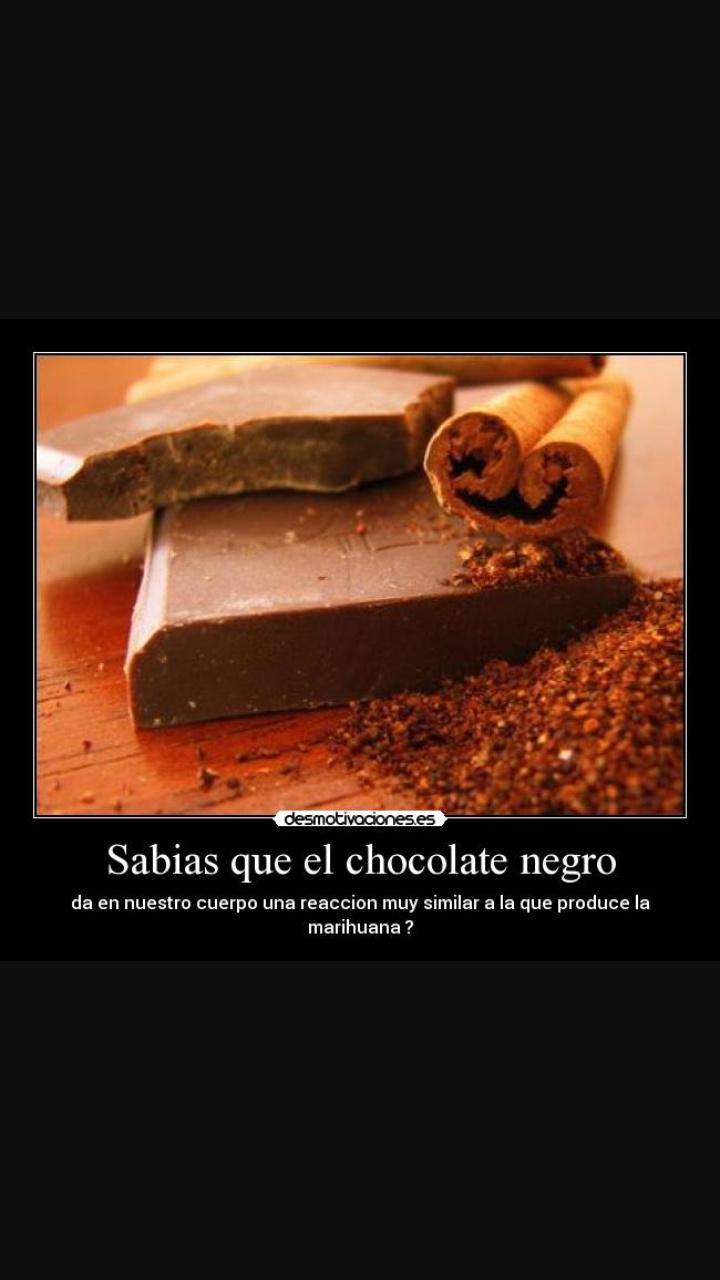 El chocolate negro es un loquillo - meme