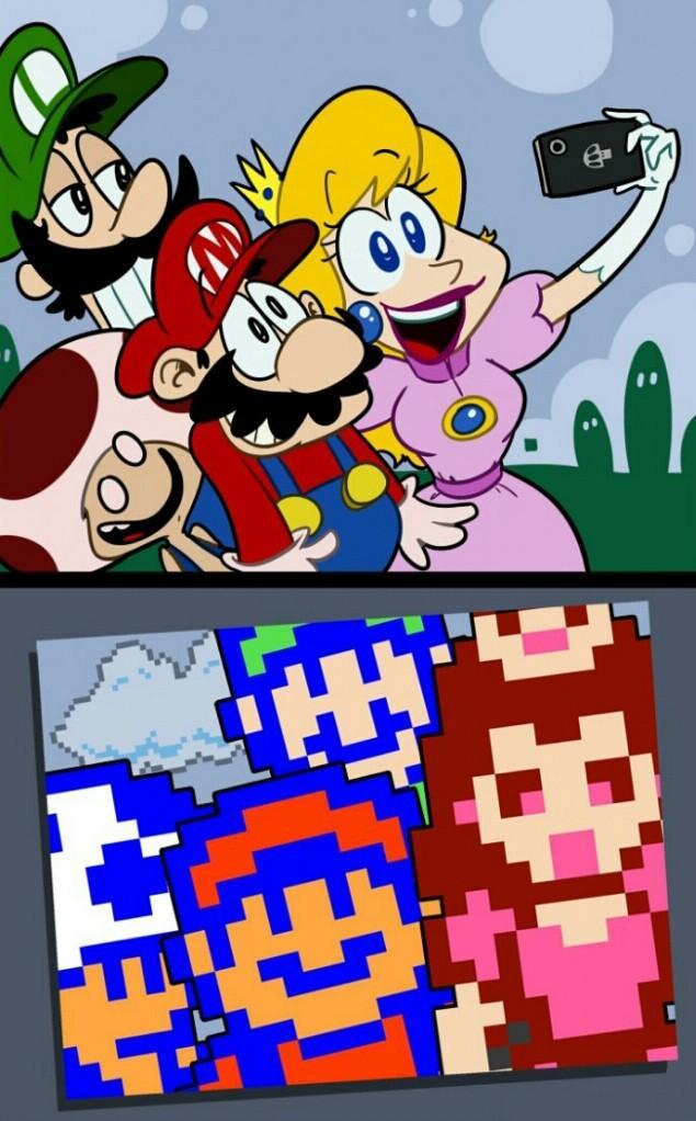 Super Mario selphie - meme