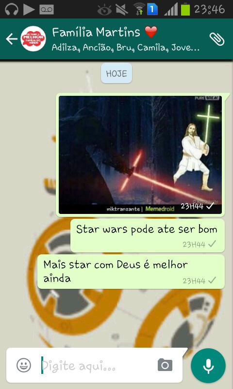 Fto do star wars pega daqui mesmo - meme