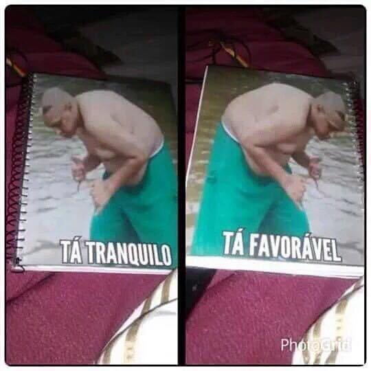 Melhor caderno - meme