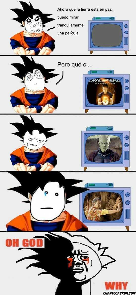 El titulo se fue a consolar a Goku - meme