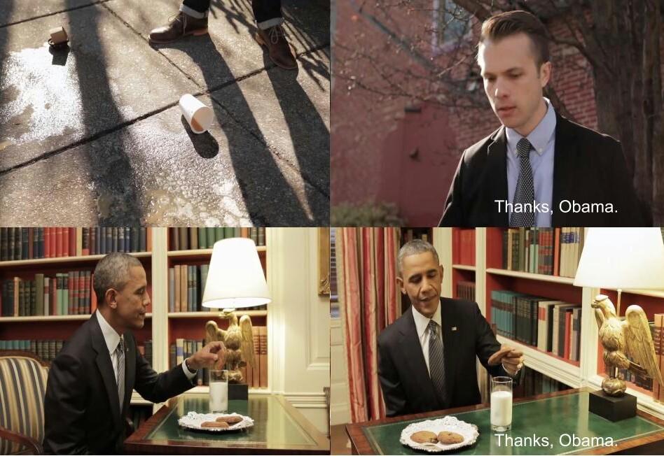 Even Obama blames Obama - meme
