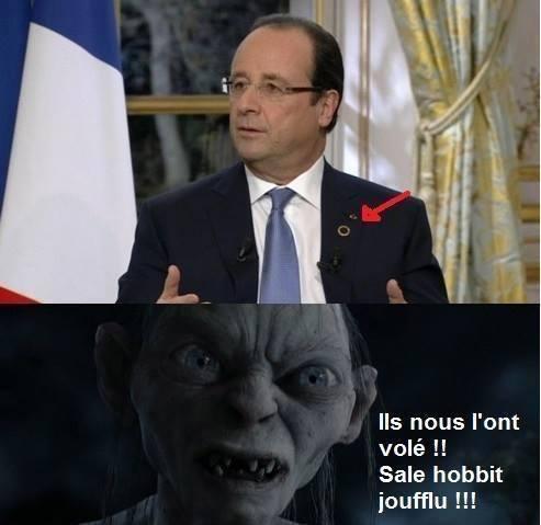 François hollande revient du mordor - meme