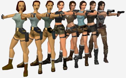Evolución de Lara croft - meme