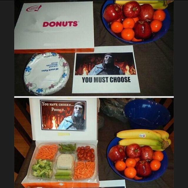 Damnit gym I'm a carrot not a donut - meme
