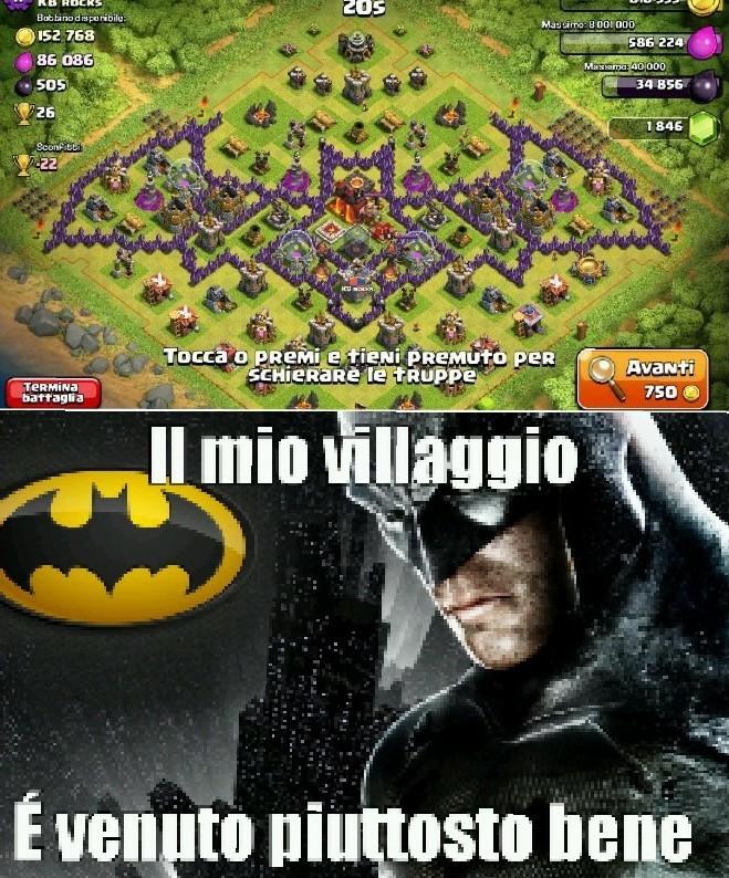 Vorrei anche io un villaggio come questo - meme