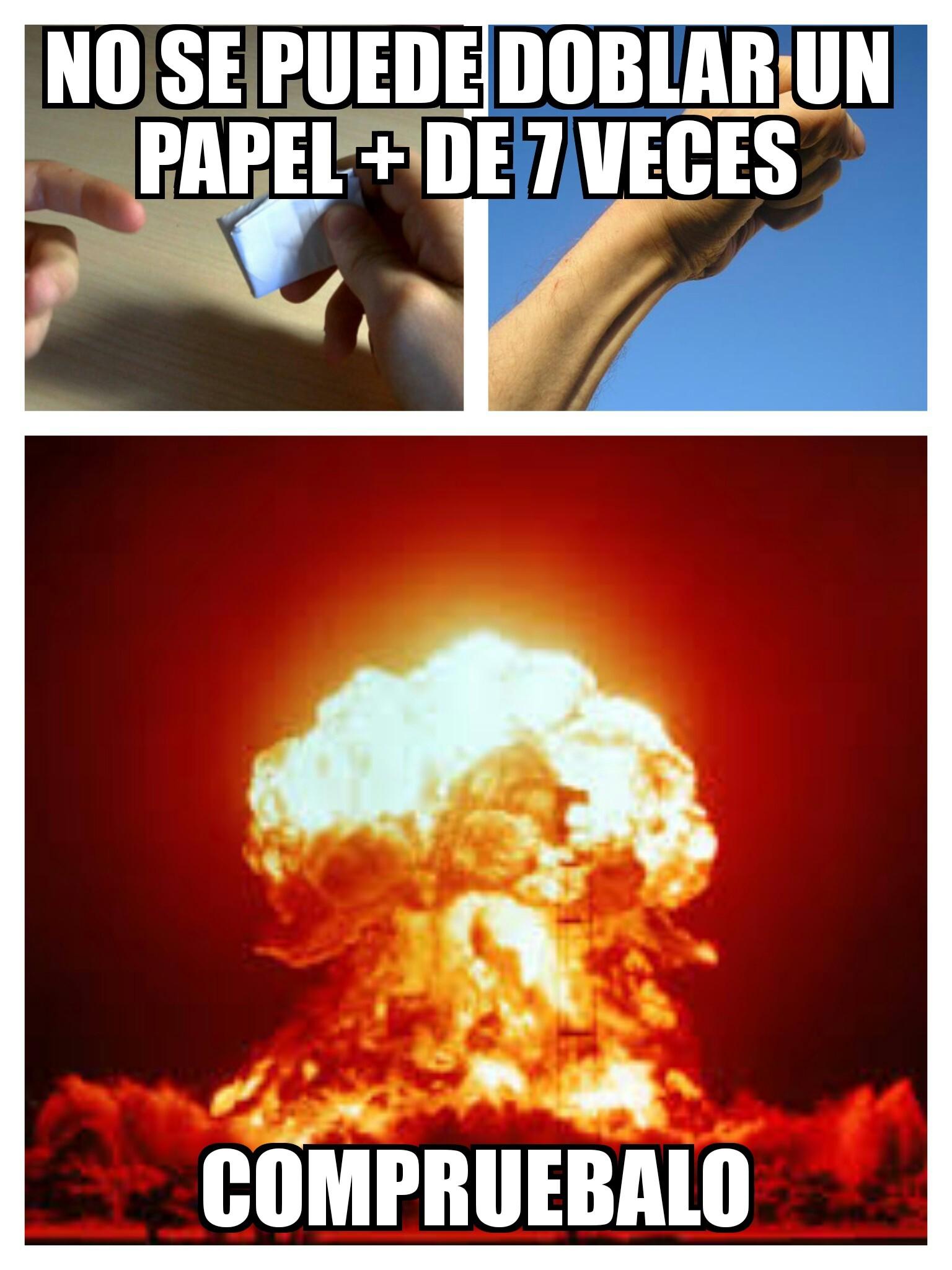 Papel + 7 veces - meme