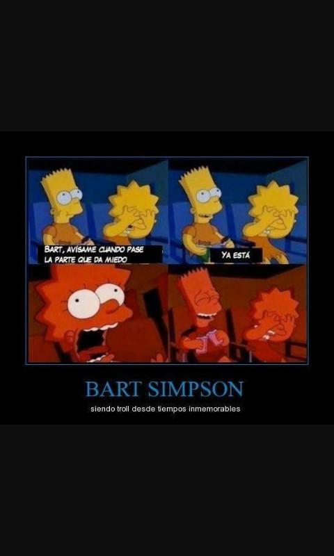 Bart y sus trolleadas - meme