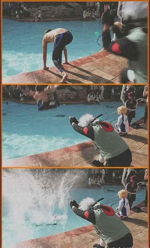 Hay que hacerlo en la piscina - meme