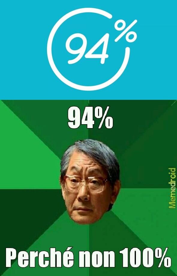 94% è un gioco per smartphone abbastanza conosciuto - meme