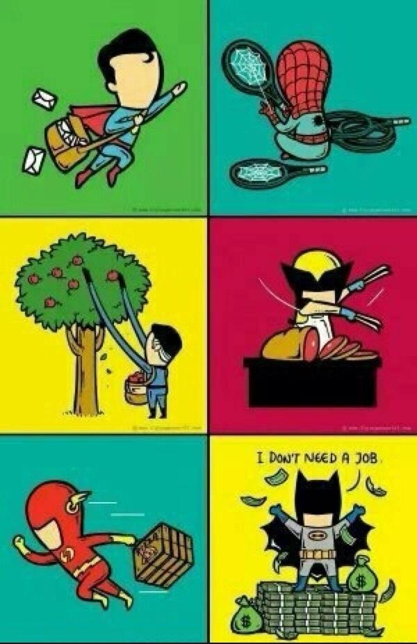 O batman nao precisa de emprego :v - meme