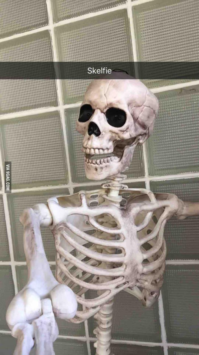 Selfie squelette - meme