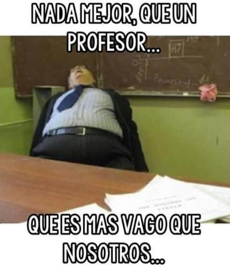 Profesores...... ......... Sigueme y te sigo - meme