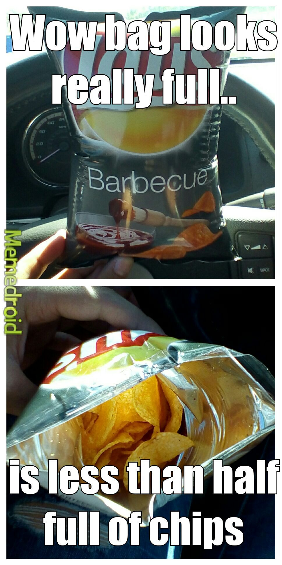 Lays disappoints me once again - meme