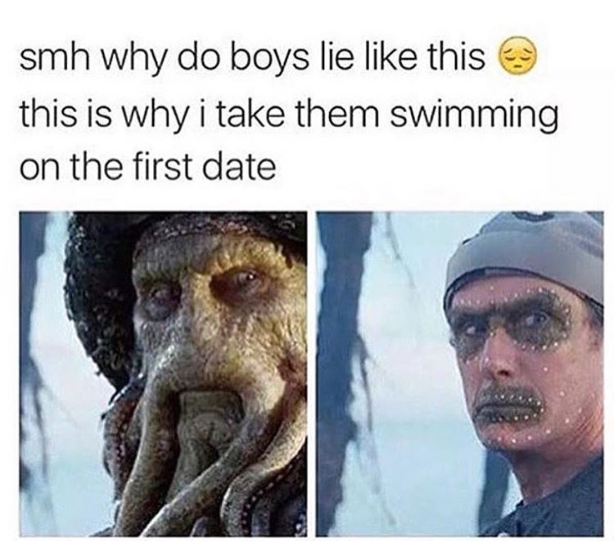 swimming dates are the best - meme