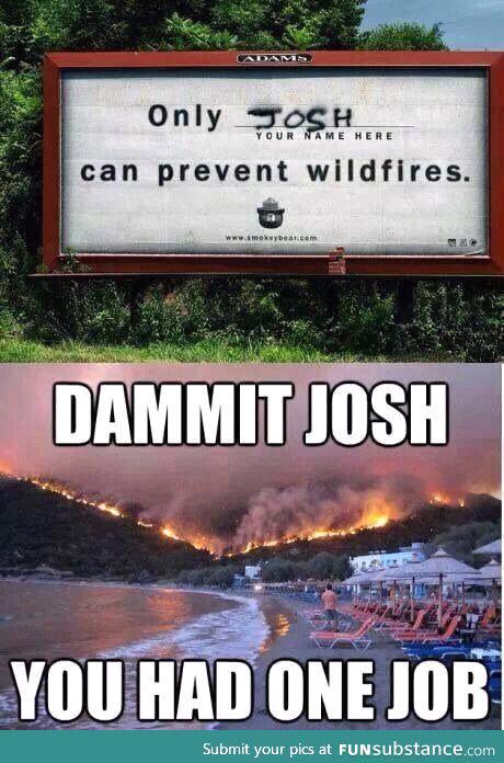 Dammit Josh - meme