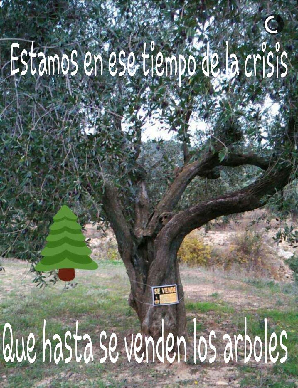 Arboles en la crisis - meme