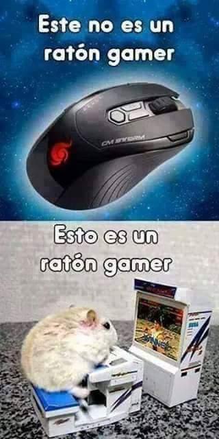 Un verdadero ratón Gamer. - meme