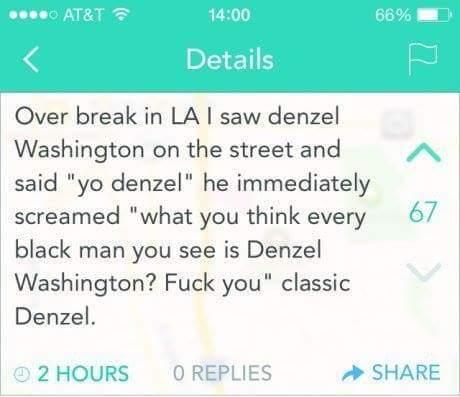 Classic Denzel - meme
