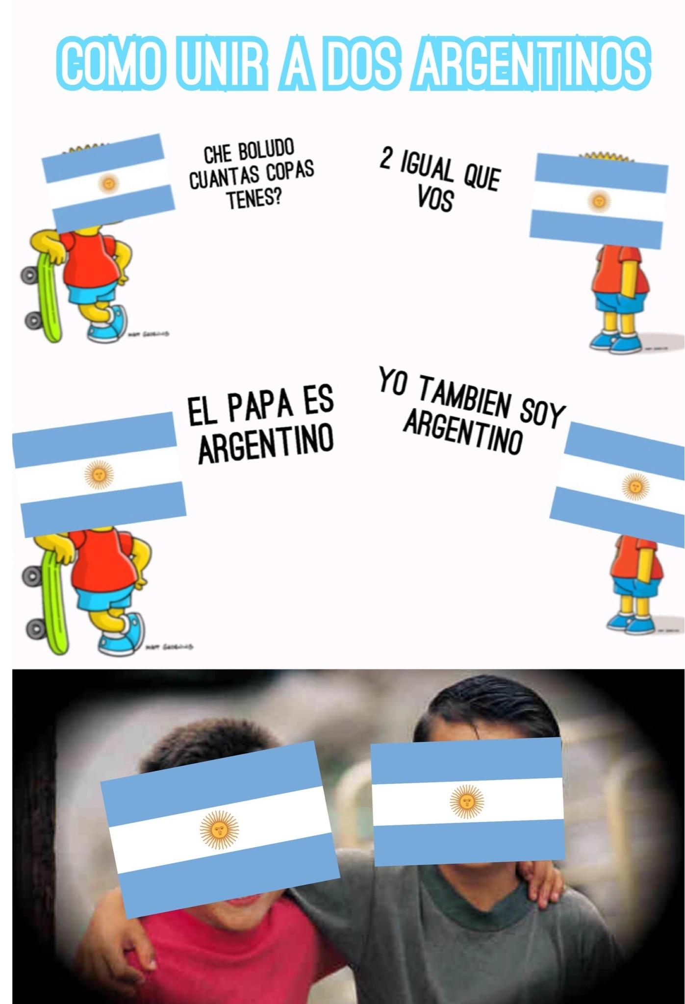 Como unir a dos Argentinos (SE REFIERE A 2 MUNDIALES) - meme