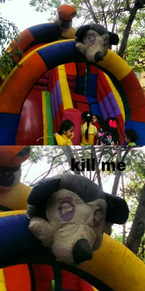 Micky's had enough BOUNCING! - meme
