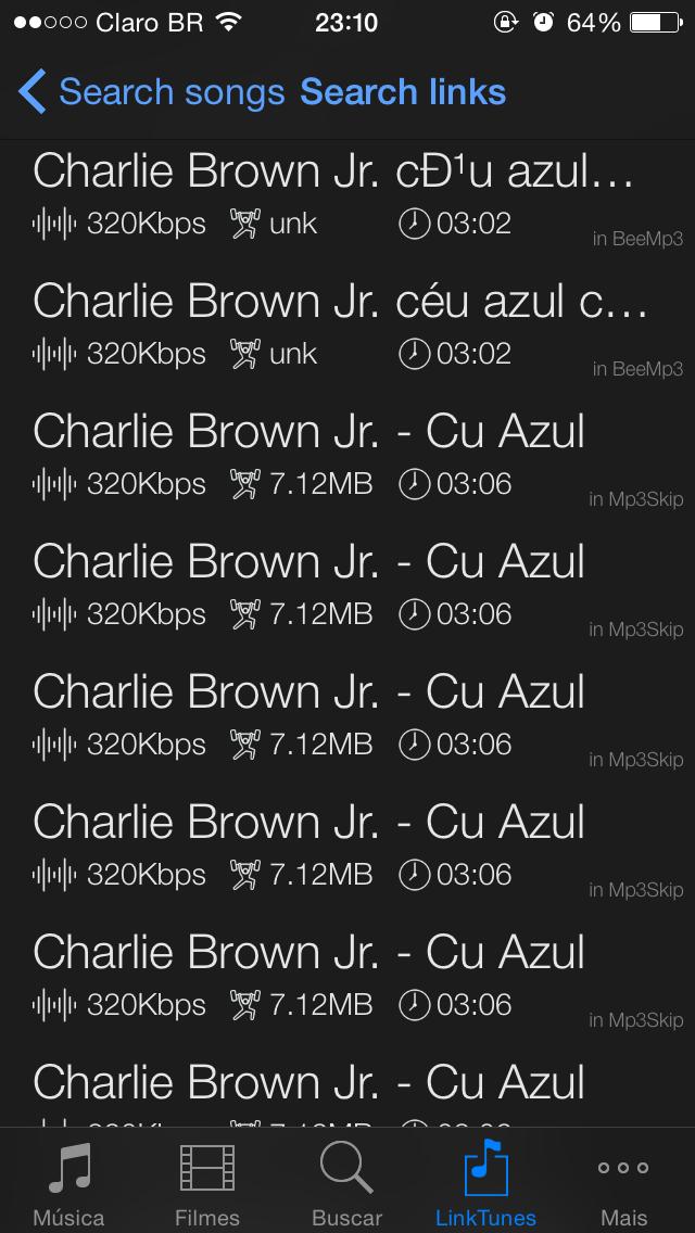 Fui baixar a música do Charlie Brown e.... cu azul - meme