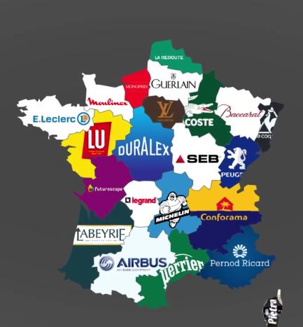 Carte des marques par régions - meme